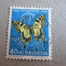 Sellos: SUIZA 1954, ZUMSTEIN Nº 157, PRO JUVENTUD, MATASELLADO. Lote 50262105