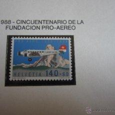 Sellos: SUIZA 1988, AEREO Nº 49**, JUNKERS JU-52 Y MATTERHORN.. Lote 50281892