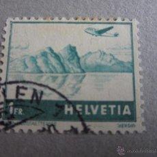 Sellos: SUIZA AEREO 1941, ZUMSTEIN Nº 32, PAISAJES. MATASELLADO. Lote 50753033