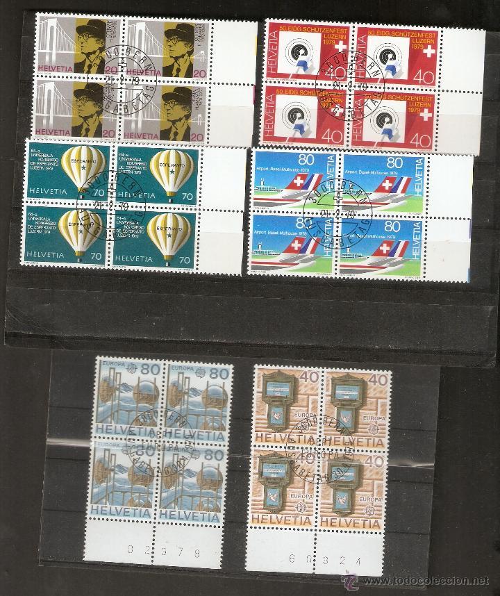 SUIZA. 1974 2 SERIES COMPLETAS .BLOCK 4 . GOMA.ORIGINAL (Sellos - Extranjero - Europa - Suiza)