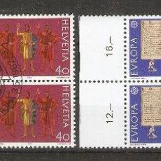Sellos: SUIZA.1982. YVERT. 1150,1151. BLOCK 4. GOMA.ORIGINAL. Lote 51079898