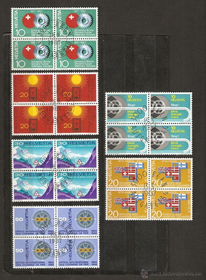 SUIZA.1967. YVERT. 791 A 794 - 784, 785. BLOQUE DE 4 (Sellos - Extranjero - Europa - Suiza)