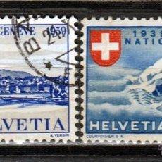 Sellos: 1939. SUIZA. CONVENCION DE GENOVA . Y EXPOSICIÓN DE ZURICH. *,MH. Lote 51133519