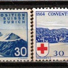 Sellos: 1939. SUIZA. CONVENCION DE GENOVA . Y EXPOSICIÓN DE ZURICH. *,MH. Lote 51133533