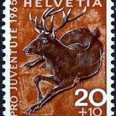 Sellos: SUIZA 1965- YV 0761. Lote 51163396