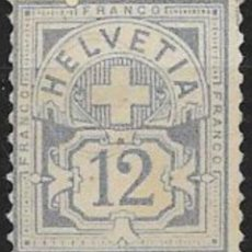 Sellos: SUIZA YVERT Nº 61* SIN GOMA. Lote 52657514
