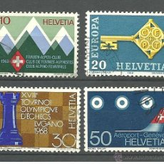 Sellos: YT 803-06 SUIZA 1968. Lote 52750135