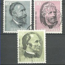 Sellos: YT 958-60 SUIZA 1974. Lote 122173066