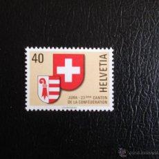 Stamps - Suiza.1071 Escudo del cantón de Jura**. 1978. Sellos nuevos, sin charnela y numeración Yvert. - 53146899