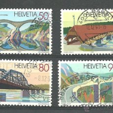 Sellos: YT 1378-81 SUIZA 1991. Lote 210491773