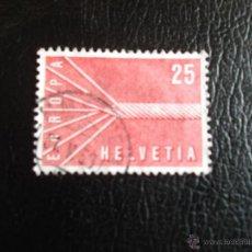 Sellos: SUIZA. 595 EUROPA-CEPT. 1957. SELLOS USADOS Y NUMERACIÓN YVERT.. Lote 53181027