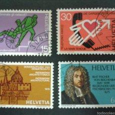 Sellos: SELLOS DE SUIZA. YVERT 987/90. SERIE COMPLETA USADA. . Lote 54236499