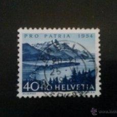 Sellos: SUIZA YVERT 552 , LAGO DE SILS , PRO PATRIA 1954. Lote 54745080