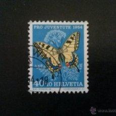 Sellos: SUIZA YVERT 557 , FAUNA MARIPOSAS , PRO JUVENTUD 1954. Lote 54745130