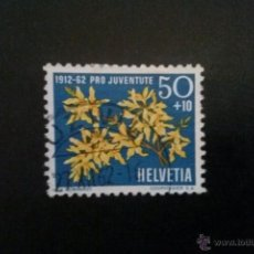 Sellos: SUIZA YVERT 704, FLORA , PRO JUVENTUD 1962. Lote 54745388