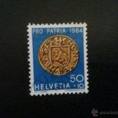 Sellos: SUIZA YVERT 734 PRO PATRIA 1964. Lote 54745447