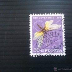 Sellos: SUIZA YVERT 556 , FAUNA INSECTOS , PRO JUVENTUD 1954. Lote 54870973