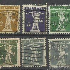 Sellos: SUIZA 1900 - 1919 LOTE DE SELLOS HELVETIA - HIJO DE WILHELM TELL . Lote 55118288