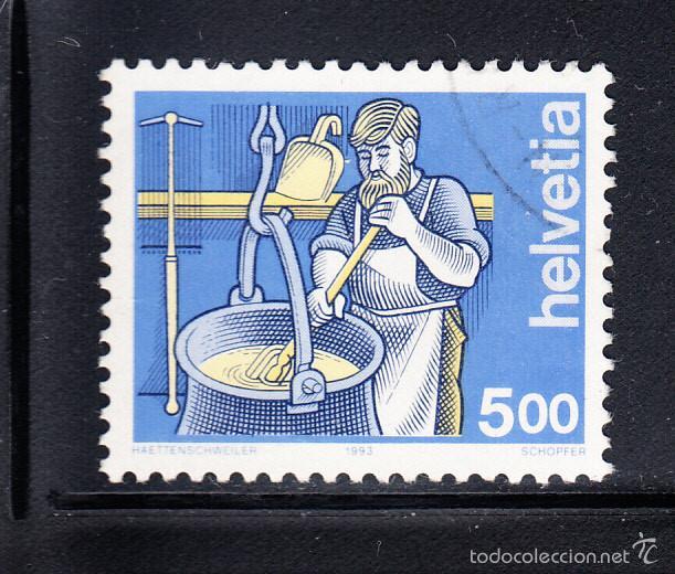 SUIZA 1434 - AÑO 1993 - EL HOMBRE Y EL TRABAJO (Sellos - Extranjero - Europa - Suiza)