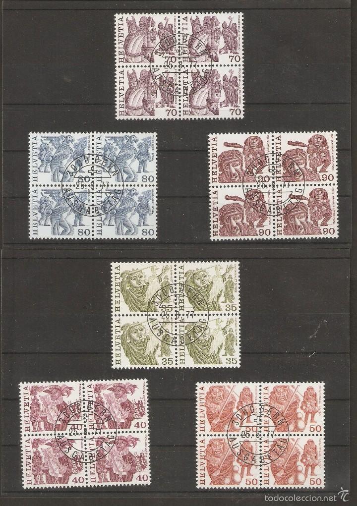 SUIZA. 1977. YVERT Nº 1036/1041. MICHEL 1103/1108. BLOCK 4 (Sellos - Extranjero - Europa - Suiza)