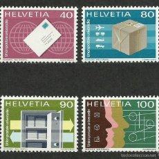 Timbres: SUIZA - 1976 - MICHEL 10/13 // SCOTT 9O10/9O13** MNH (OFICINA DEL SERVICIO POSTAL UNIVERSAL). Lote 56605452