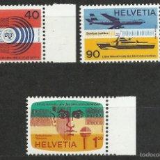 Timbres: SUIZA - 1976 - MICHEL 11/13 // SCOTT 10O11/10O13** MNH (UNION INTERNACIONAL DE TELECOMUNICACIONES). Lote 56605501