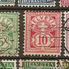 Sellos: SUIZA & SERIE CORRENTE 1882-1899 (61A). Lote 56838905