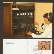 Sellos: SUIZA. 1990. CARTA POSTAL. ORDENADOR UNIVERSAL. Lote 57274132