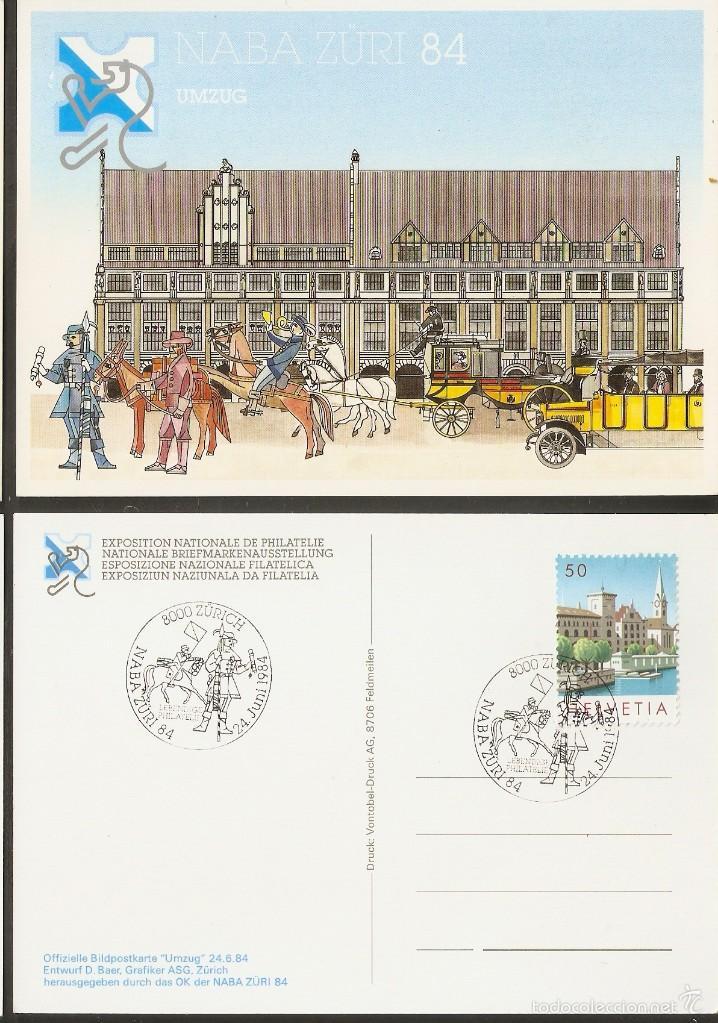 SUIZA. 1984. CARTA MÁXIMA. NABA ZÜRI (Sellos - Extranjero - Europa - Suiza)