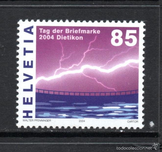 SUIZA 1824** - AÑO 2004 - ENERGIA HIDRAULICA - DÍA DEL SELLO (Sellos - Extranjero - Europa - Suiza)