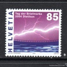 Sellos: SUIZA 1824** - AÑO 2004 - ENERGIA HIDRAULICA - DÍA DEL SELLO. Lote 59731776