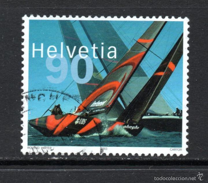 SUIZA 1756 - AÑO 2003 - VELA - EQUIPO SUIZO VENCEDOR DE LA COPA AMÉRICA 2003 (Sellos - Extranjero - Europa - Suiza)