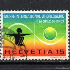 Sellos: SUIZA 930 - AÑO 1973 - MUSEO INTERNACIONAL DE RELOJERIA. Lote 59949231