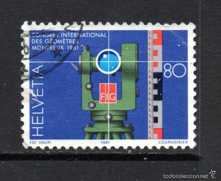 SUIZA 1124 - AÑO 1981 - CONGRESO INTERNACIONAL DE TOPOGRAFOS (Sellos - Extranjero - Europa - Suiza)