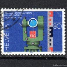 Sellos: SUIZA 1124 - AÑO 1981 - CONGRESO INTERNACIONAL DE TOPOGRAFOS. Lote 59949439
