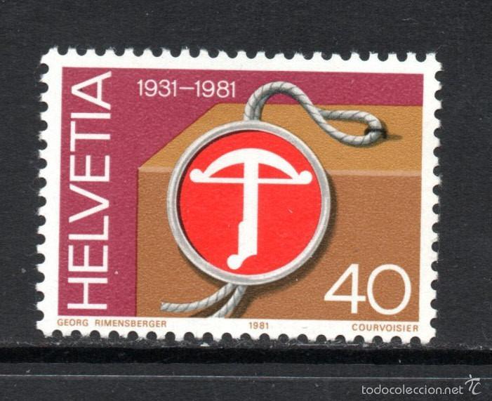 SUIZA 1136** - AÑO 1981 - 50º ANIVERSARIO DE LA UTILIZACION DE LA ETIQUETA DE CALIDAD SUIZA (Sellos - Extranjero - Europa - Suiza)