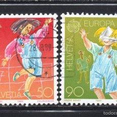 Sellos: SUIZA 1323/24 - AÑO 1989 - EUROPA - JUEGOS INFANTILES. Lote 60743187