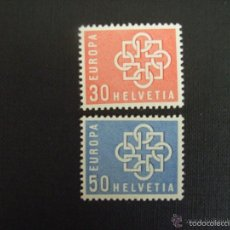 Sellos: SUIZA 1959 IVERT 630/1 *** EUROPA. Lote 60917919