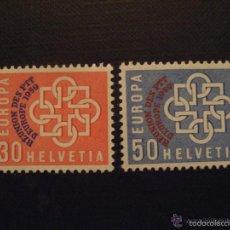 Sellos: SUIZA 1959 IVERT 632/3 *** CONFERENCIA EUROPEA DE CORREOS Y TELECOMUNICACIONES. Lote 60918139