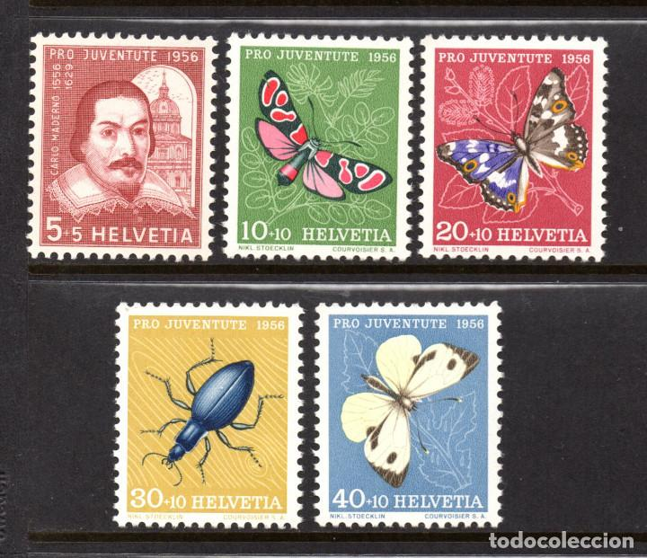 SUIZA 581/85* - AÑO 1956 - FAUNA - INSECTOS - MARIPOSAS - PRO JUVENTUD (Sellos - Extranjero - Europa - Suiza)