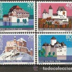 Sellos: SUIZA 1978 IVERT 1060/3 *** POR LA PATRIA - CASTILLOS DE SUIZA. Lote 61849132