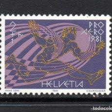 Sellos: SUIZA 1981 AEREO IVERT 48 *** PRO AEREO - ICARO. Lote 61903024