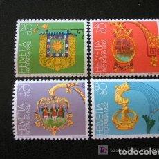 Sellos: SUIZA 1982 IVERT 1152/5 *** POR LA PATRIA - INSIGNEAS HOTELERAS. Lote 61969552