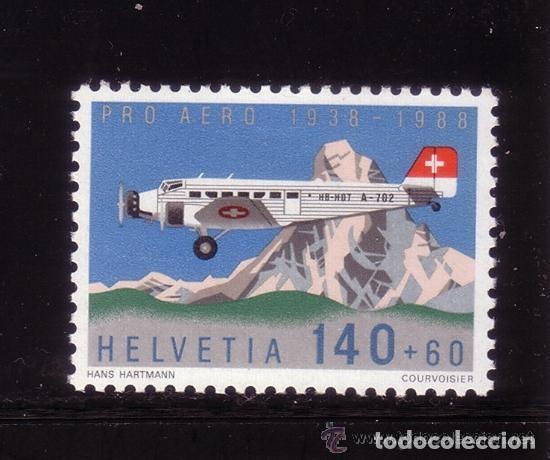 SUIZA 1988 AEREO IVERT 49 *** 50º ANIVERSARIO DE LA FUNDACIÓN PRO-AÉREO (Sellos - Extranjero - Europa - Suiza)