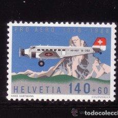 Sellos: SUIZA 1988 AEREO IVERT 49 *** 50º ANIVERSARIO DE LA FUNDACIÓN PRO-AÉREO . Lote 62544416