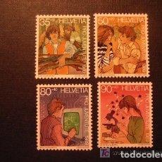 Sellos: SUIZA 1989 IVERT 1333/36 *** POR LA JUVENTUD - EL DESARROLLO DEL NIÑO (III). Lote 62969032