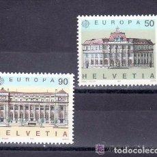 Sellos: SUIZA 1990 IVERT 1347/48 *** EUROPA - EDIFICIOS DE CORREOS - MONUMENTOS. Lote 62969604