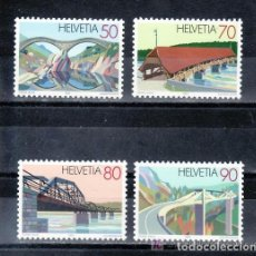 Sellos: SUIZA 1991 IVERT 1378/81 *** PUENTES - ARQUITECTURA. Lote 63292280