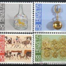 Sellos: SUIZA 1993 IVERT 1430/33 *** POR LA PATRIA - ARTE POPULAR EN SUIZA (II). Lote 63298428