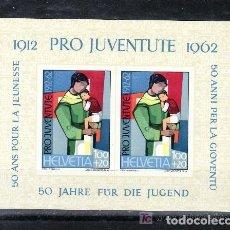 Sellos: SUIZA 1962 HB IVERT 18 *** 50º ANIVERSARIO DE LA INSTITUCION PRO-JUVENTUD. Lote 63543648